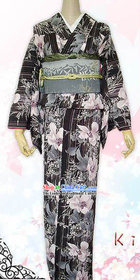 Traditional Japanese Garment Kimono Complete Set for Women
