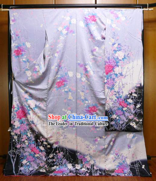 Japanese Kimono Dress Complete Set for Women