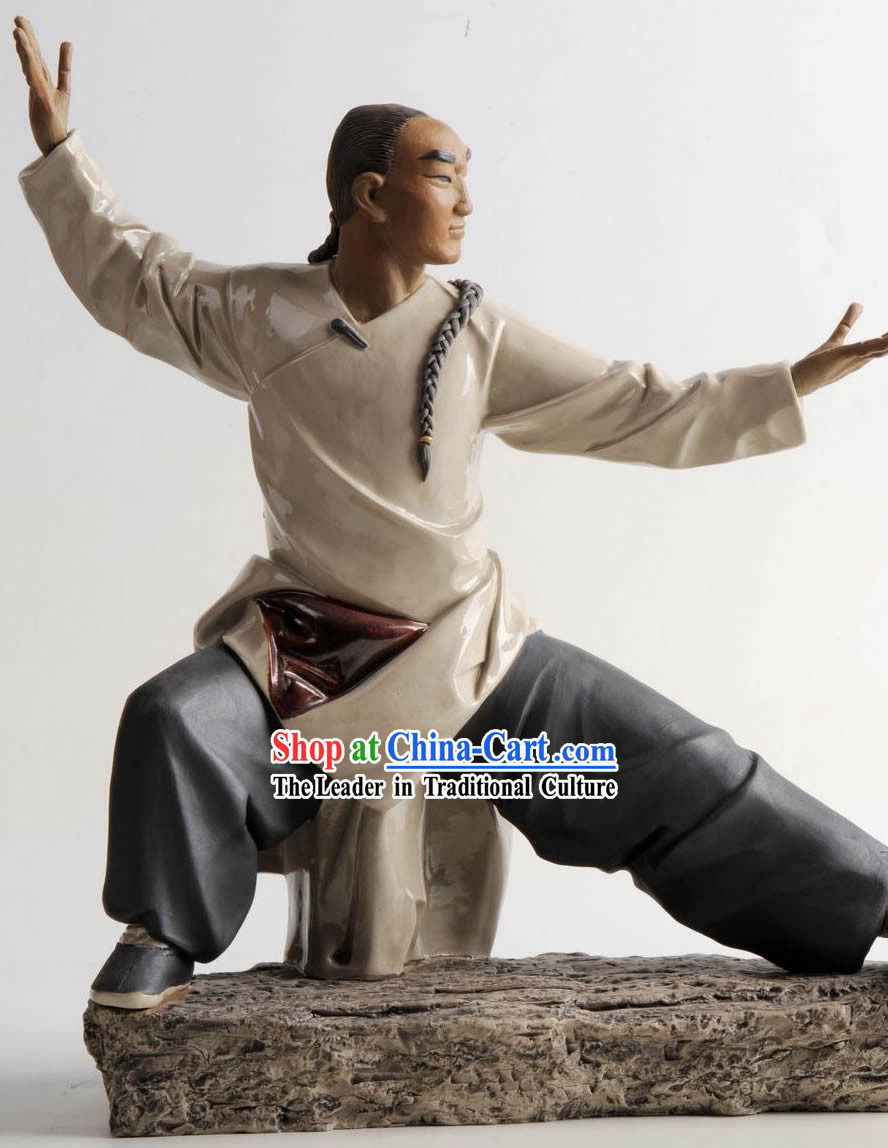 Chinese Classical Shiwan Ceramic Statue Collection - Huang Feihong