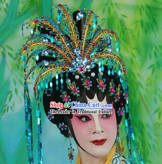 Chinese Opera Wig and Phoenix Hair Decoration Complete Set