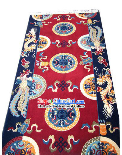 Chinese Palace Dragon Phoenix Wool Carpet