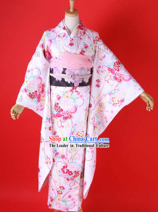 Japanese Classical Kimono Complete Set for Women