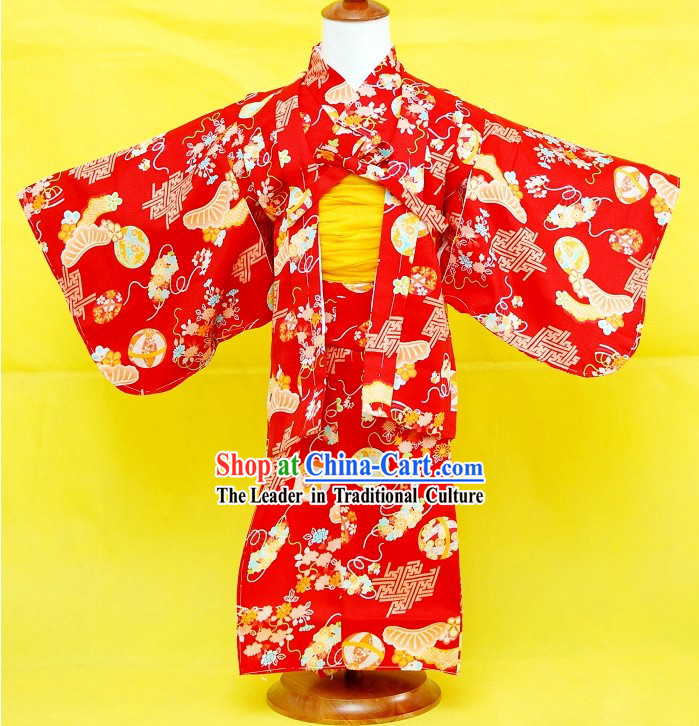 Traditional Japanese Kimono Complete Set for Children