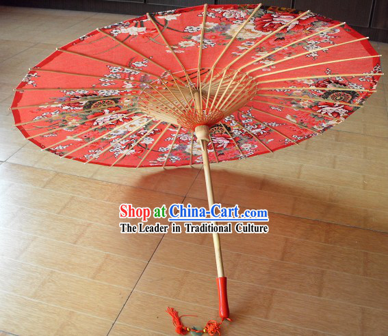 Traditional Chinese Red Wedding Umbrella