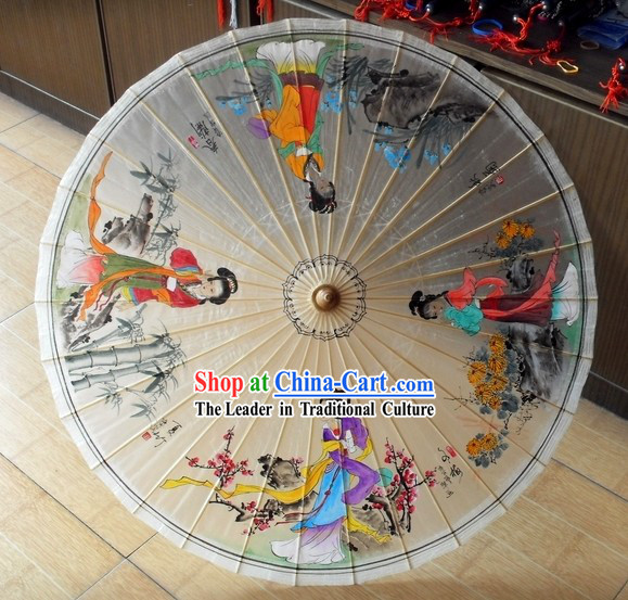 Ancient Chinese Four Beauties Oilpaper Umbrella