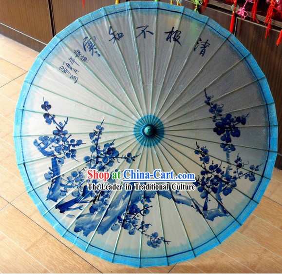 Traditional Chinese Plum Blossom Painting Umbrella