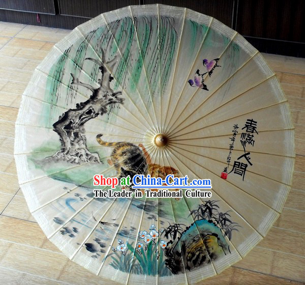 Chinese Classical Spring Painting Umbrella