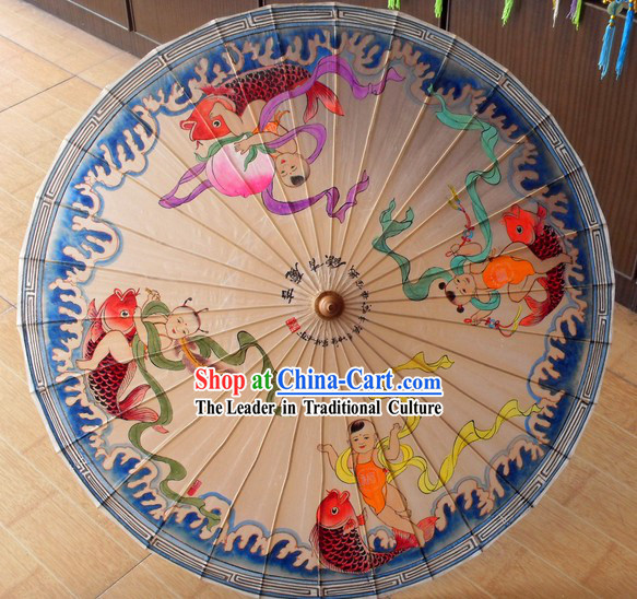 Chinese Traditional Baby Painting Umbrella