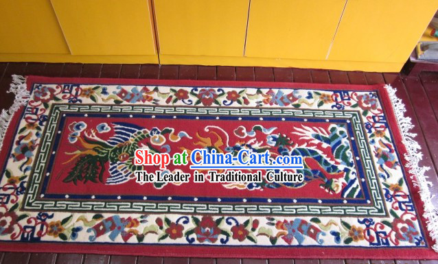Traditional Chinese Dragon and Phoenix Carpet