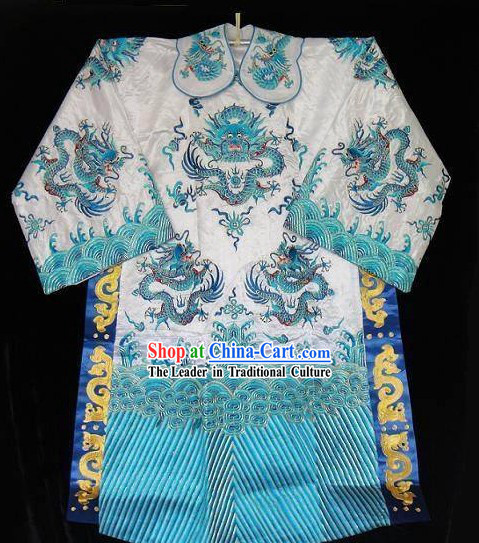 Chinese Opera Embroidery Dragon Costume for Men