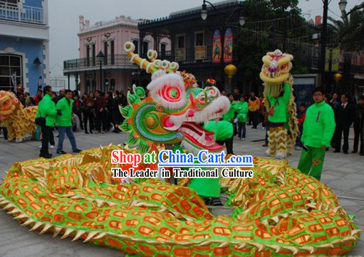 Southern Style Competition and Parade Dragon Dancing Costumes Complete Set