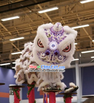 Supreme Chinese Handmade Sheep Wool Lion Dance Equipment Complete Set