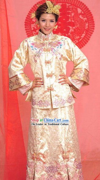 Chinese Classic Couple Wedding Anniversary Dress for Women