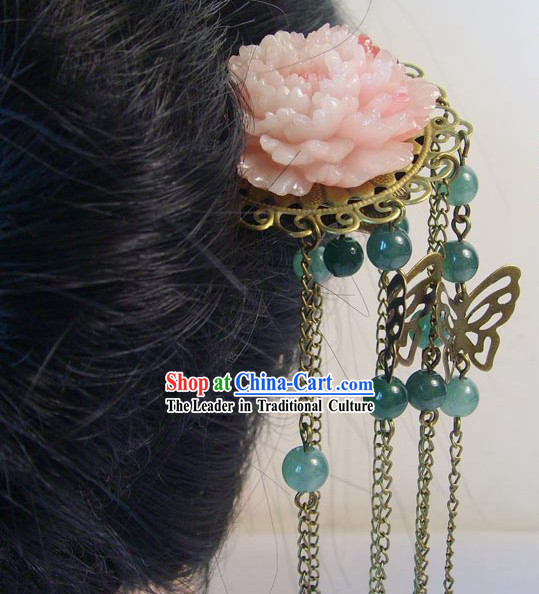 Traditional Chinese Handmade Butterfly and Flowr Hairpin