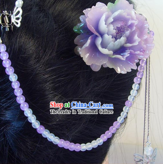 Ancient Chinese Style Flower Headpiece