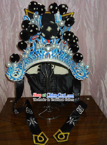 Chinese Peking Opera General Headpiece