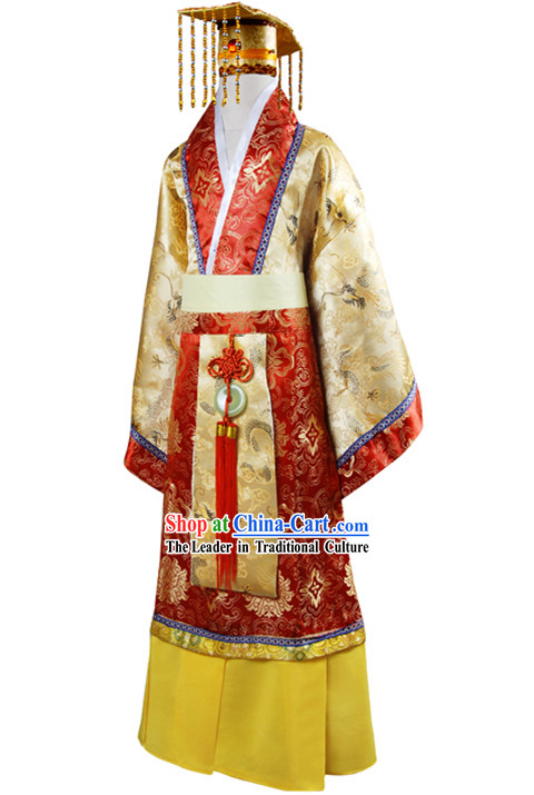 Chinese Emperor Outfit and Hat for Kids