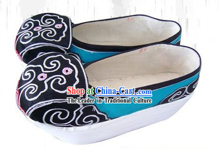 High Sole Peking Opera Male Embroidered Shoes
