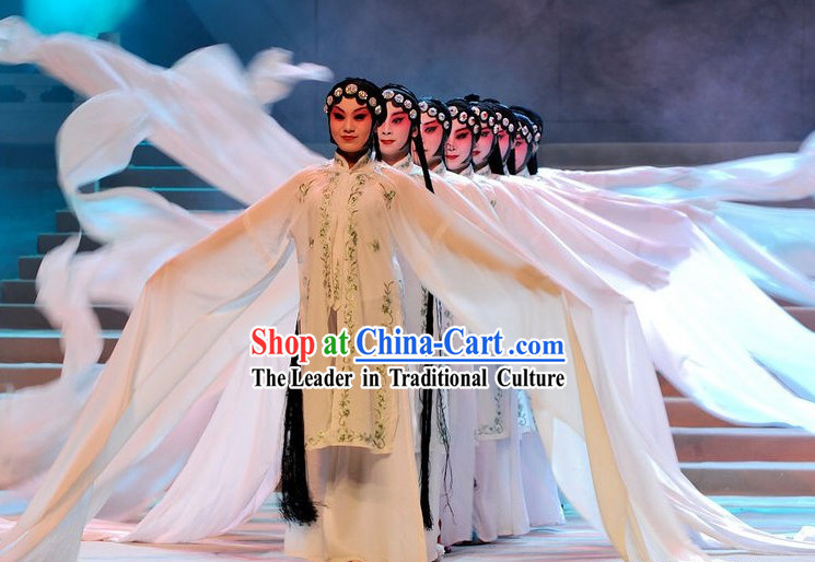 Chinese Peking Opera Long Sleeve Dance Costume for Women