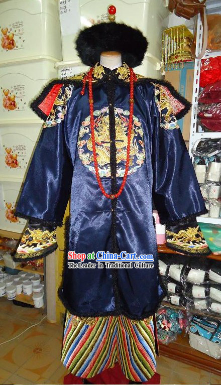 Ancient Chinese Highness Princess Clothing and Coronet Complete Set