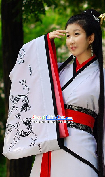 Ancient Chinese Hanfu Quju Garment for Women
