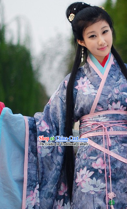 Chinese Classic Lotus Garment for Women