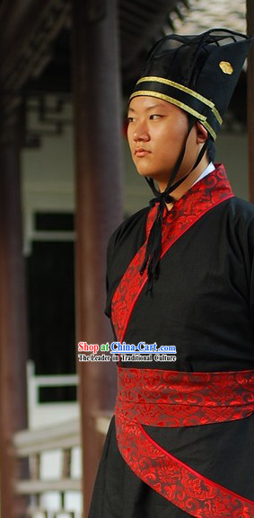 Chinese Classic Official Clothing and Hat for Men