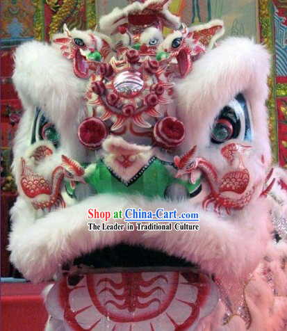 Top Luminous Handmade Phoenix Lion Dance Mask Costume Complete Set