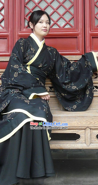 Chinese Black Hanfu Suit for Women