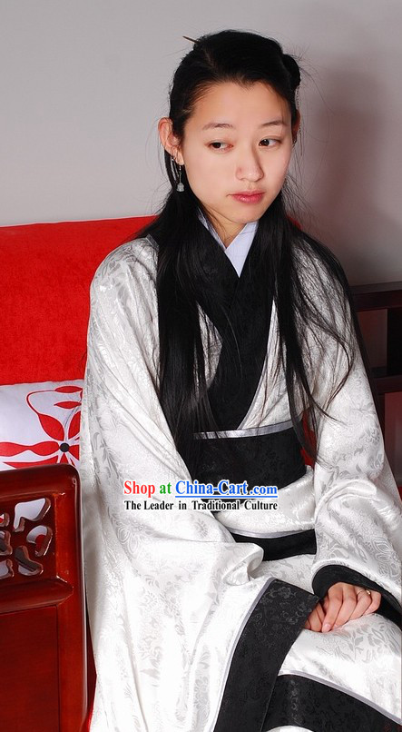 Traditional Chinese White Suit for Women