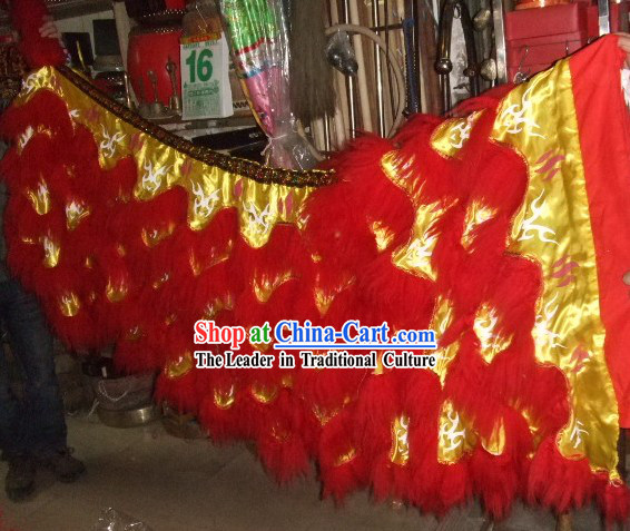Luminous Tiger Stripe Festival Celebration Lion Dance Body Tail Pants Claws Set
