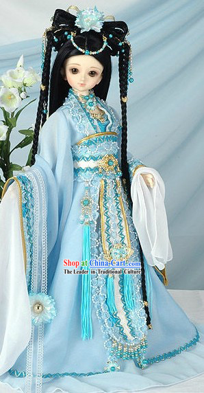 Ancient Chinese Princess Headpiece and Costumes Complete Set