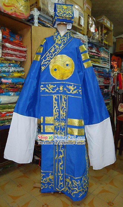 Chinese Classic Taoist Costume and Hat