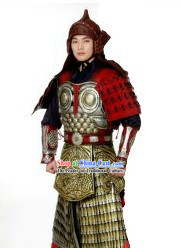 Ancient Chinese Fighter Armor Costumes and Helmet