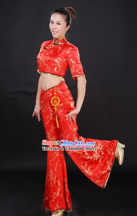 Traditional Chinese Festival Celebration Folk Dance Costume for Women