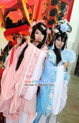 Ancient Chinese Beauty Pink Costume Complete Set