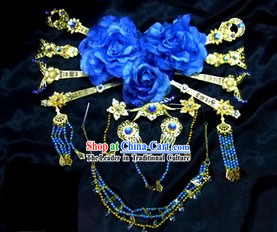 Blue Peace Princess Hair Accessories Set