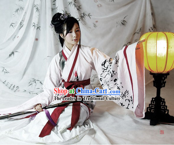 Chinese Landscape Painting Hanfu Clothing Set