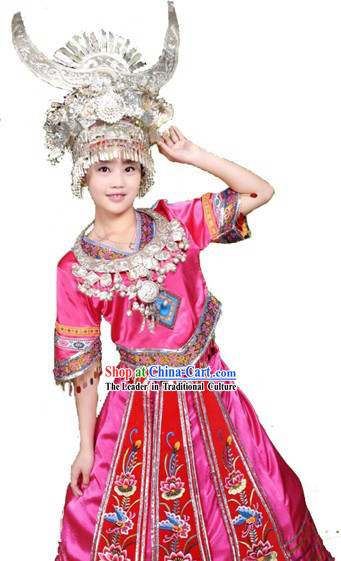 Traditional Chinese Miao Clothing and Hat