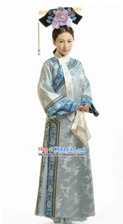 Bu Bu Jing Xin Qing Dynasty Chieftain Wife Clothing Complete Set