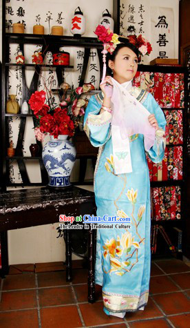 Qing Dynasty Princess Costumes and Headpiece