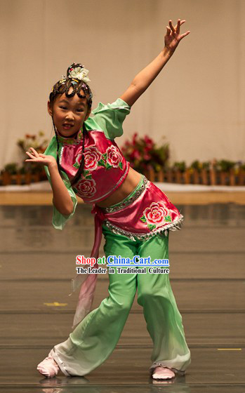 Chinese Classical Flower Dance Costume for Children