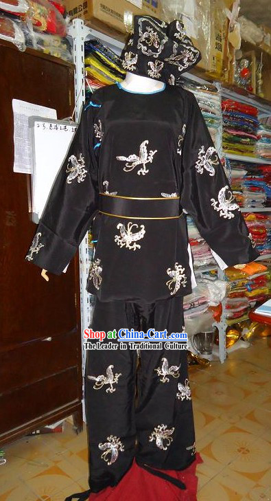 Chinese Peking Opera Male Costume Complete Set