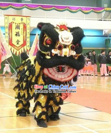 Festival Celebration Long Wool Lion Dance Costume Complete Set