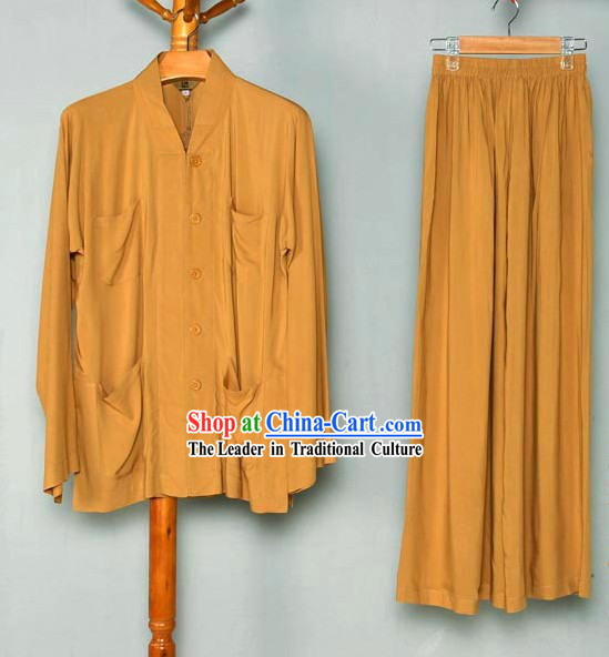 Traditional Chinese Meditation Monk Clothing for Men
