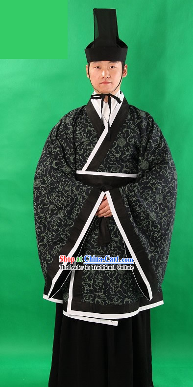 Ancient Chinese General Clothing and Hat for Men