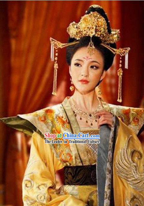 Ancient Chinese Tang Dynasty Princess Hair Accessories Complete Set