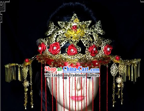 Ancient Chinese Brides Wedding Phoenix Hat