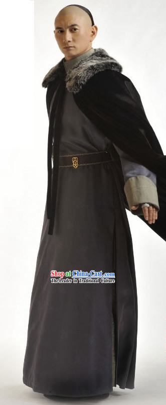 Ancient Chinese Qing Dynasty Prince Cape Costume Complete Set