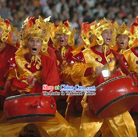 Traditional Chinese Dragon Dancer Costumes Complete Set